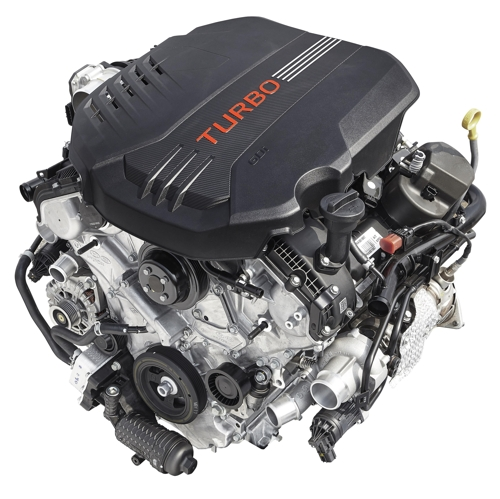 A 3.3 Liter Twin Turbo V6 Lambda II Engine Developed By Hyundai Motor Group