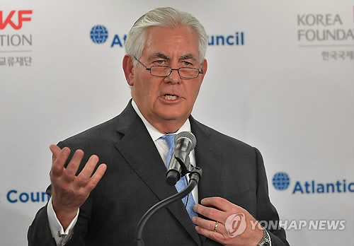 Tillerson Says North Korea Has to Stop Nuclear Tests Before Any Talks