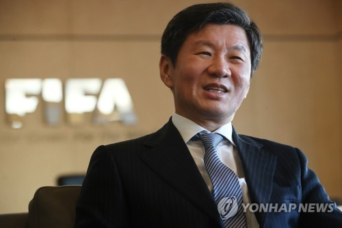 Korea Football Association (KFA) President Chung Mong-gyu speaks in an interview at the KFA House in Seoul on Dec. 28, 2017. (Yonhap)