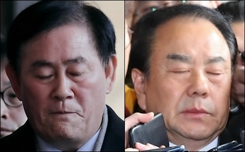 File photos of Reps. Choi Kyoung-hwan (L) and Lee Woo-hyun of the main opposition Liberty Korea Party (Yonhap)