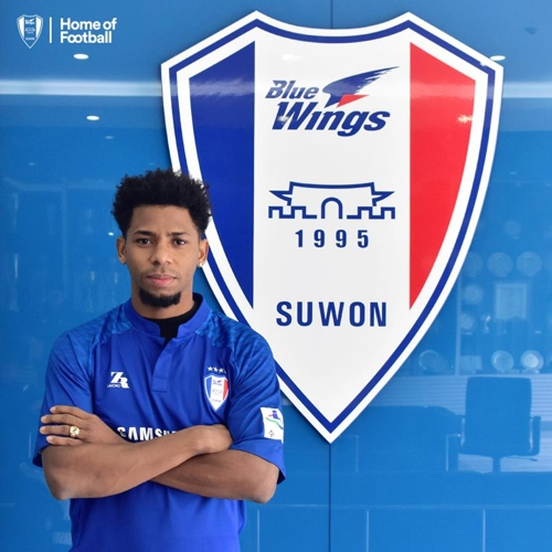 This photo provided by South Korean football club Suwon Samsung Bluewings on Jan. 2, 2018, shows their new signing, Wagner Da Silva Souza. (Yonhap)