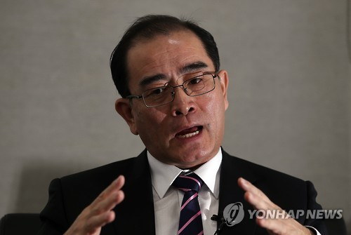 This file photo shows Thae Yong-ho, a former senior North Korean diplomat stationed in Britain who defected to South Korea in 2016. (Yonhap)