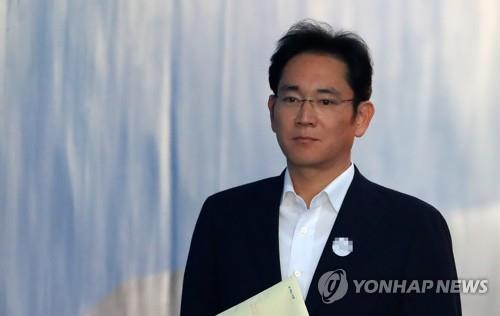 Lee Jae-yong, vice chairman of Samsung Electronics Co., enters the Seoul High Court in this file photo taken Nov. 29, 2017. (Yonhap)