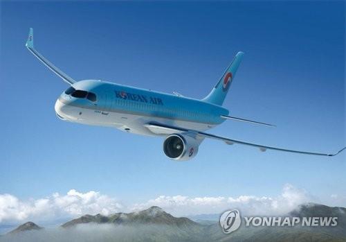 Korean Air's CS300 passenger jet (Photo courtesy of Korean Air) (Yonhap)