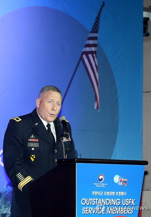 Lt. Gen. Michael A. Bills, new commander of the U.S. Eighth Army, in a file photo provided by South Korea's veterans ministry. (Yonhap)