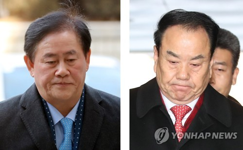 The composite photo filed Jan. 3 shows Rep. Choi Kyung-hwan (L) and Lee Woo-hyun of the Liberty Korea Party. (Yonhap)