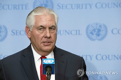 This AP file photo shows U.S. Secretary of State Rex Tillerson. (Yonhap)