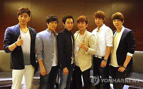 This undated photo provided by the Shinhwa Co. is of the boy band Shinhwa. (Yonhap)