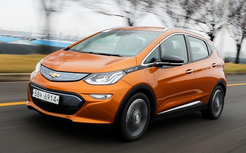 The Chevrolet Bolt EV in a photo provided by GM Korea (Yonhap)