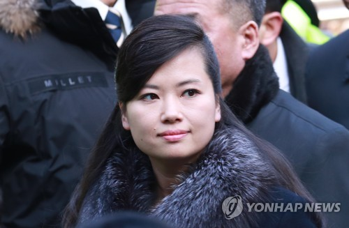 Hyon Song-wol, head of a North Korean delegation, arrives at Seoul Station on Jan. 21, 2018. (Yonhap)