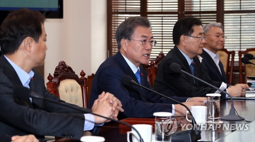Inter-Korean thaw 'opens door' for N-talks with USA, says Moon