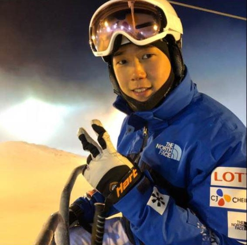 South Korean mogul skier Choi Jae-woo poses for the camera in this file photo, provided by the Korea Ski Association. (Yonhap)