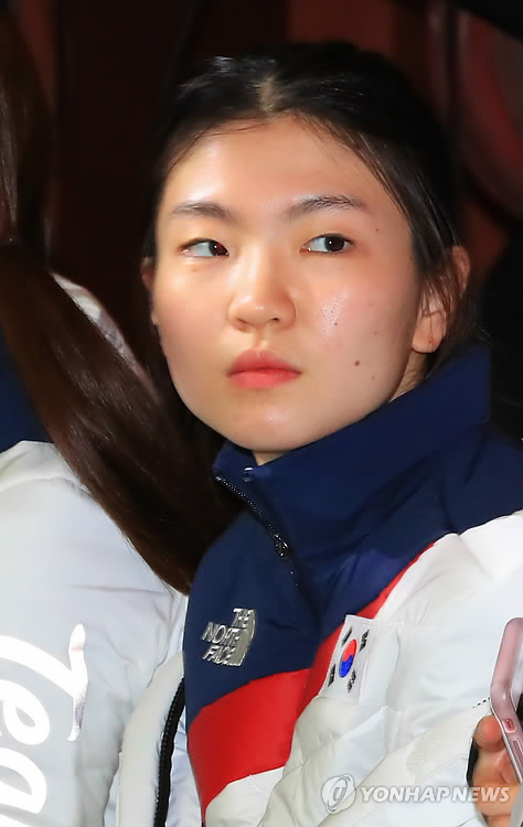 South Korea's short track speed skater Shim Suk-hee takes part in a Team Korea launching ceremony in Seoul on Jan. 24, 2018, ahead of the 2018 PyeongChang Winter Olympics. (Yonhap)