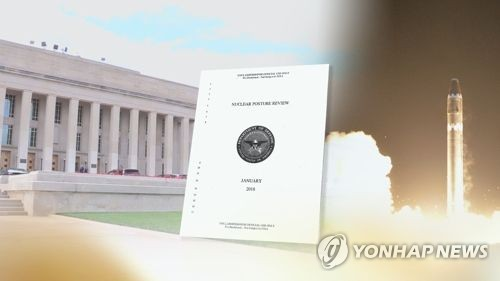 This image provided by Yonhap News TV shows the U.S. nuclear posture document. (Yonhap)