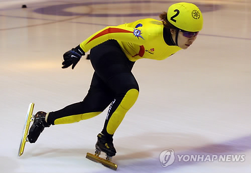Jin Sun-yu, an Olympic short track speed skating gold medalist, in a file photo (Yonhap)