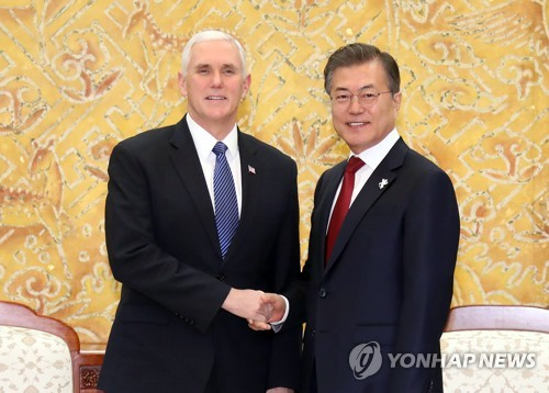 Moon in talks with high-level N.Korean delegation