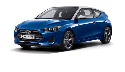 Hyundai Motor's all-new Veloster coupe is shown in this photo provided courtesy of Hyundai Motor. (Yonhap)