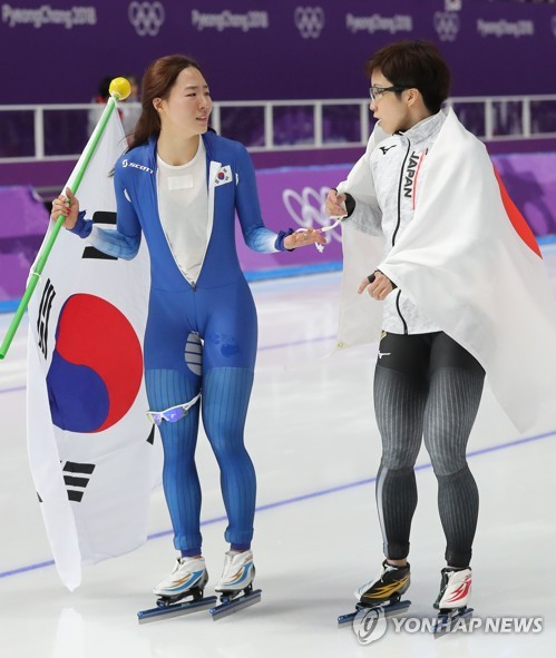 Speed skating: South Korea, Japan celebrate skaters' bonhomie