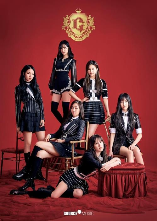 This image provided by Source Music shows the K-pop girl band GFriend. (Yonhap)