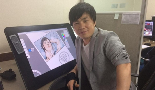 Choi Seong-guk, a Web cartoonist, poses for a photo at his office in this undated photo provided by him. (Yonhap)