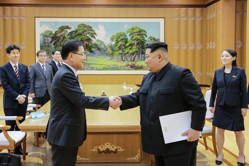 Trump's 'de-nuke' comment lingers as S. Koreans feted by North