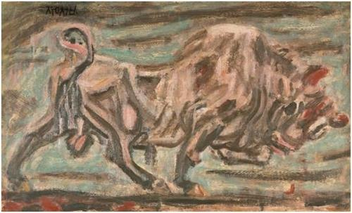 """Lee Sung-seob's """"A Bull"""" is shown in this image provided by Seoul Auction. (Yonhap)"""