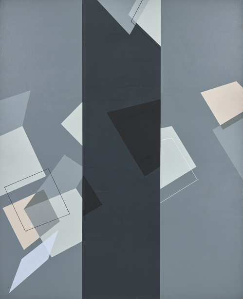 """This image provided by Arario Gallery in Seoul on March 7, 2018, shows artist Suh Seung-won's """"Simultaneity 89-95,"""" which he painted in 1989. (Yonhap)"""