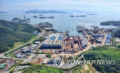 This undated file photo shows the STX Offshore & Shipbuilding Co. shipyard in Changwon, South Gyeongsang Province. (Yonhap)
