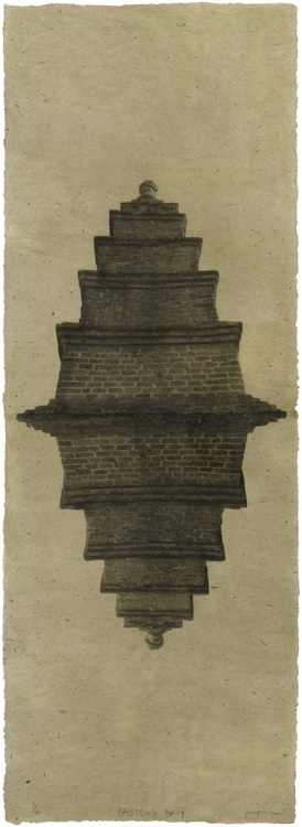 """This image provided by artist Jungjin Lee and the National Museum of Modern and Contemporary Art (MMCA) shows """"Pagoda 98-19."""" (Yonhap)"""