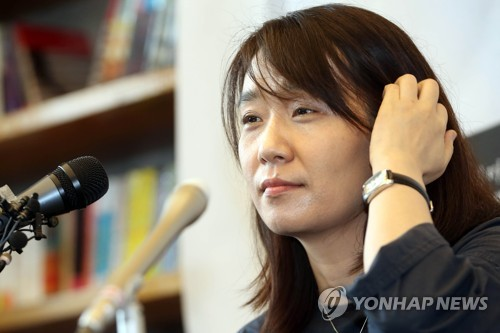 This file photo shows novelist Han Kang. (Yonhap)