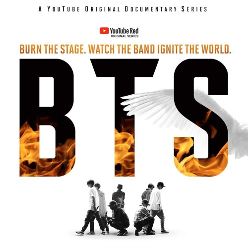 "A promotional image for YouTube's upcoming BTS documentary series, ""BTS: Burn The Stage"" (Yonhap)"