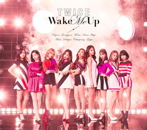 """A promotional image for TWICE's upcoming Japanese release, """"Wake Me Up,"""" provided by JYP Entertainment (Yonhap)"""
