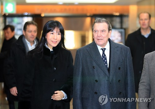 this photo shows former german chancellor gerhard schroder r and his partner kim so - Gerhard Schroder Lebenslauf