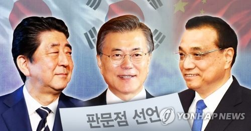 Leaders of Japan, China, SKorea agree to co-operate on NKorea