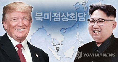 A combined image of U.S. President Donald Trump and North Korean leader Kim Jong-un (Yonhap)