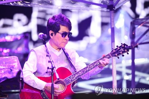 This photo of South Korean pop legend Cho Yong-pil's concert for the 50th anniversary of his debut was provided by its organizing committee. (Yonhap)