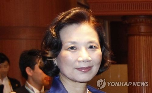 This file photo shows Lee Myung-hee, wife of Hanjin Group and Korean Air Lines Chairman Cho Yang-ho. (Yonhap)