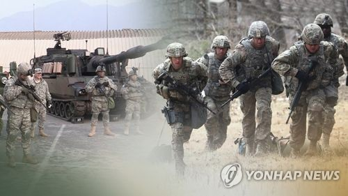 This image, provided by Yonhap News TV, shows American troops stationed in South Korea. (Yonhap)