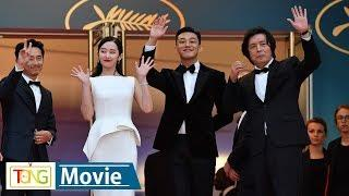 'Burning' director and cast hit Cannes red carpet