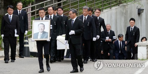 Funeral held for late LG Chairman Koo