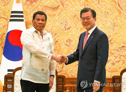 (LEAD) Leaders of S. Korea, Philippines agree to improve ties, boost cooperation