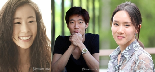 These photos show ballet dancers Park Sae-eun (L), Kim Ki-min (C) and Seo Hee. (Yonhap)