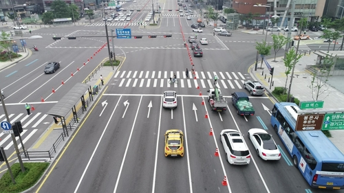 Testfahrt in Seoul.