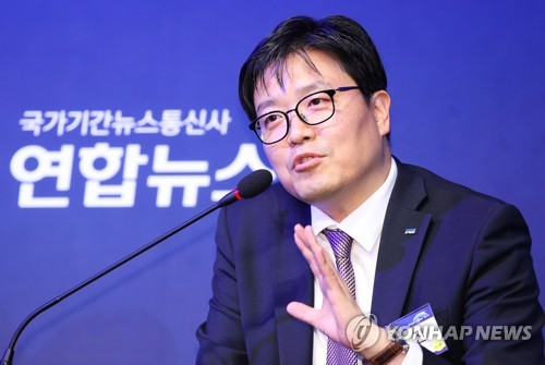 Kim Hyo-jin, a Samjong KPMG Accounting Corp. partner at the firm's North Korea Business Center, speaks at a Yonhap News Agency symposium co-hosted by the unification ministry in Seoul on June 29, 2018. (Yonhap)