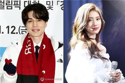 The file photos are of Lee Dong-wook (L) and Bae Suzy. (Yonhap)