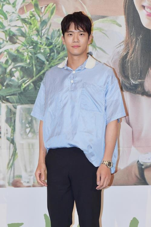 """Actor Ha Seok-jin poses for photos during a media promotion event for the upcoming television series """"Your House Helper"""" on KBS 2TV in Seoul on July 2, 2018. (Yonhap)"""