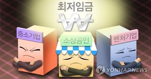 This computer generated image depicts the dissatisfaction of business communities with the 2019 minimum wage. (Yonhap)