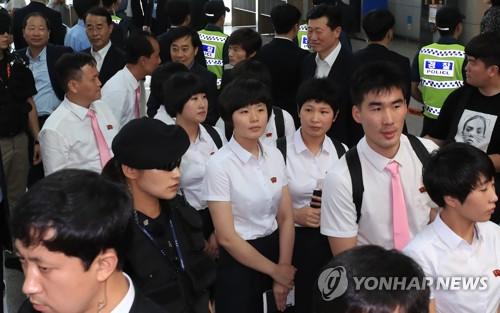 N. Korean table tennis team leaves S. Korea after successful tournament