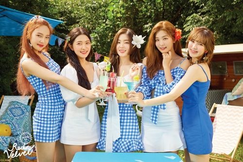 "This teaser image for Red Velvet's new album ""Summer Magic"" was provided by SM Entertainment. (Yonhap)"
