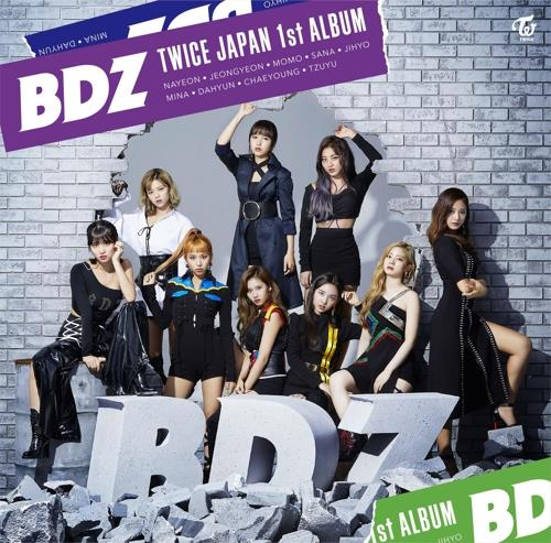 "This image of the jacket of TWICE's upcoming Japanese album ""BDZ"" is provided by JYP Entertainment. (Yonhap)"